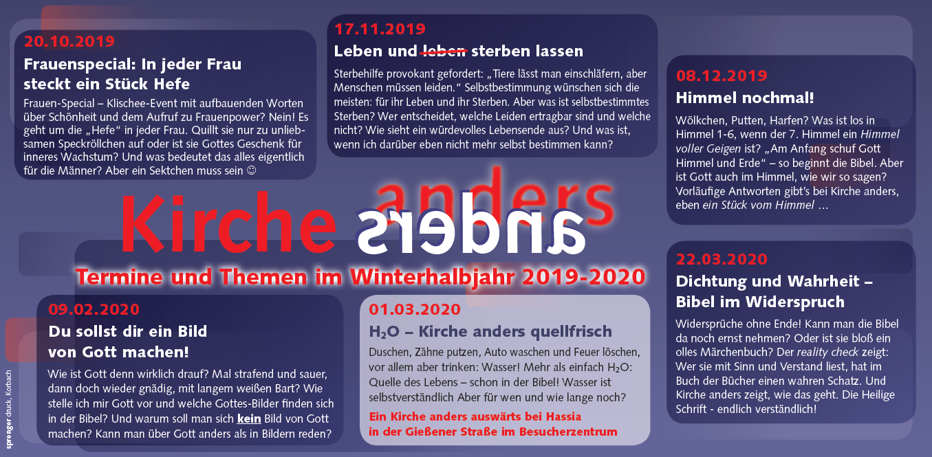 Flyer Kirche anders 2019